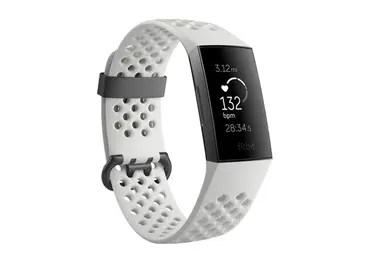 A Fitbit Charge 3 bracelet