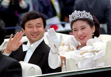 Naruhito y su esposa, la futura emperatriz Masako