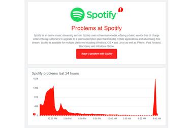 Los reportes de problemas en Spotify según Downdetector