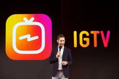 Kevin Systrom, cofundador y director de Instagram, durante la presentación de IGTV