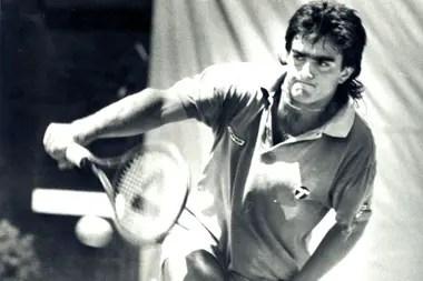Guillo Pérez Roldán en sus tiempos de tenista