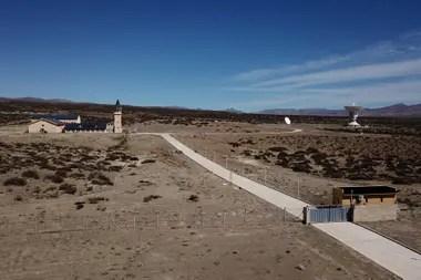 La estación espacial china está construida en un predio de 200 hectáreas al noroeste de Neuquén