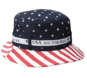 Bucket hat with string- USA all the way