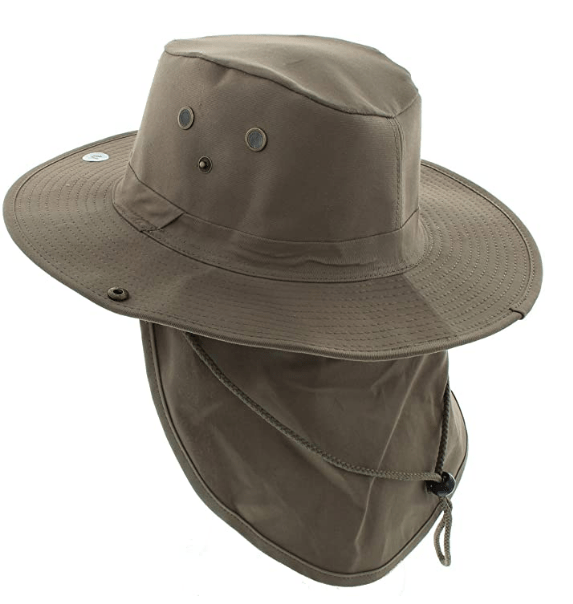 Bucket hats for men with neck flap