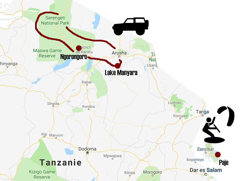 Carte Tanzanie zanzibar