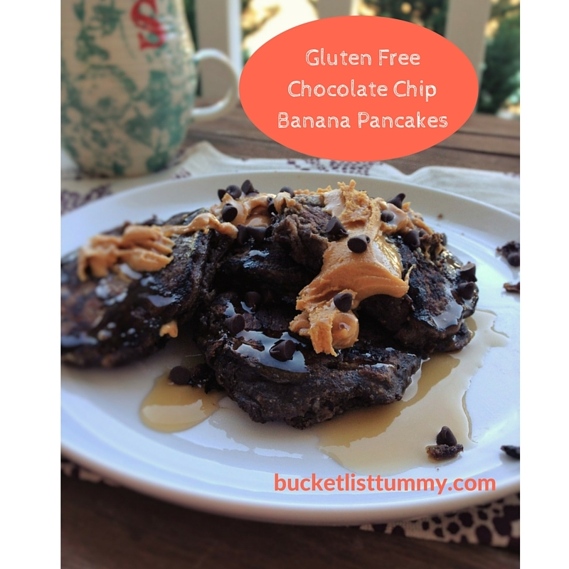 Gluten Free Chocolate Chip Banana Pancakes