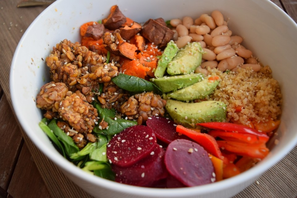 antioxidant vegan power bowl