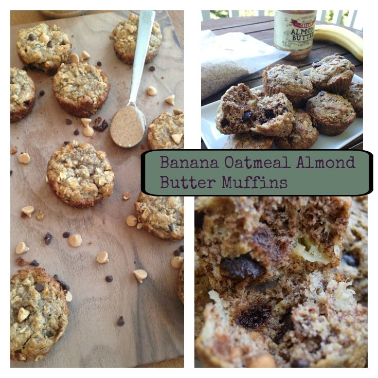 Banana Oatmeal Almond Butter Muffins graphic