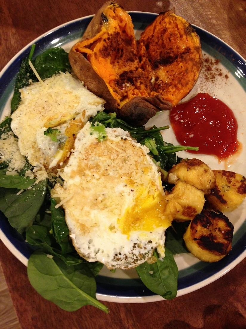 eggs and sweet potato