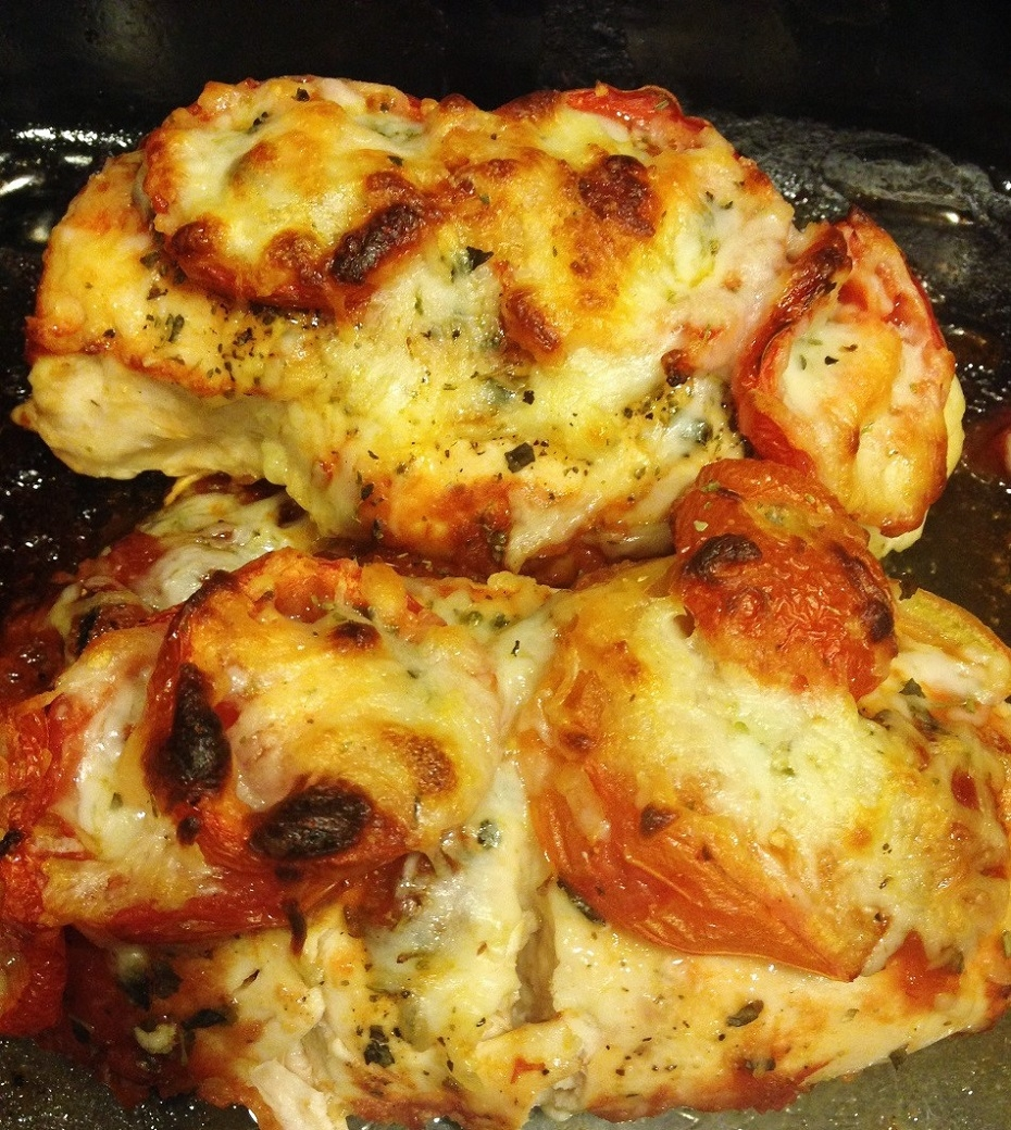 one pan cheesy chicken baked