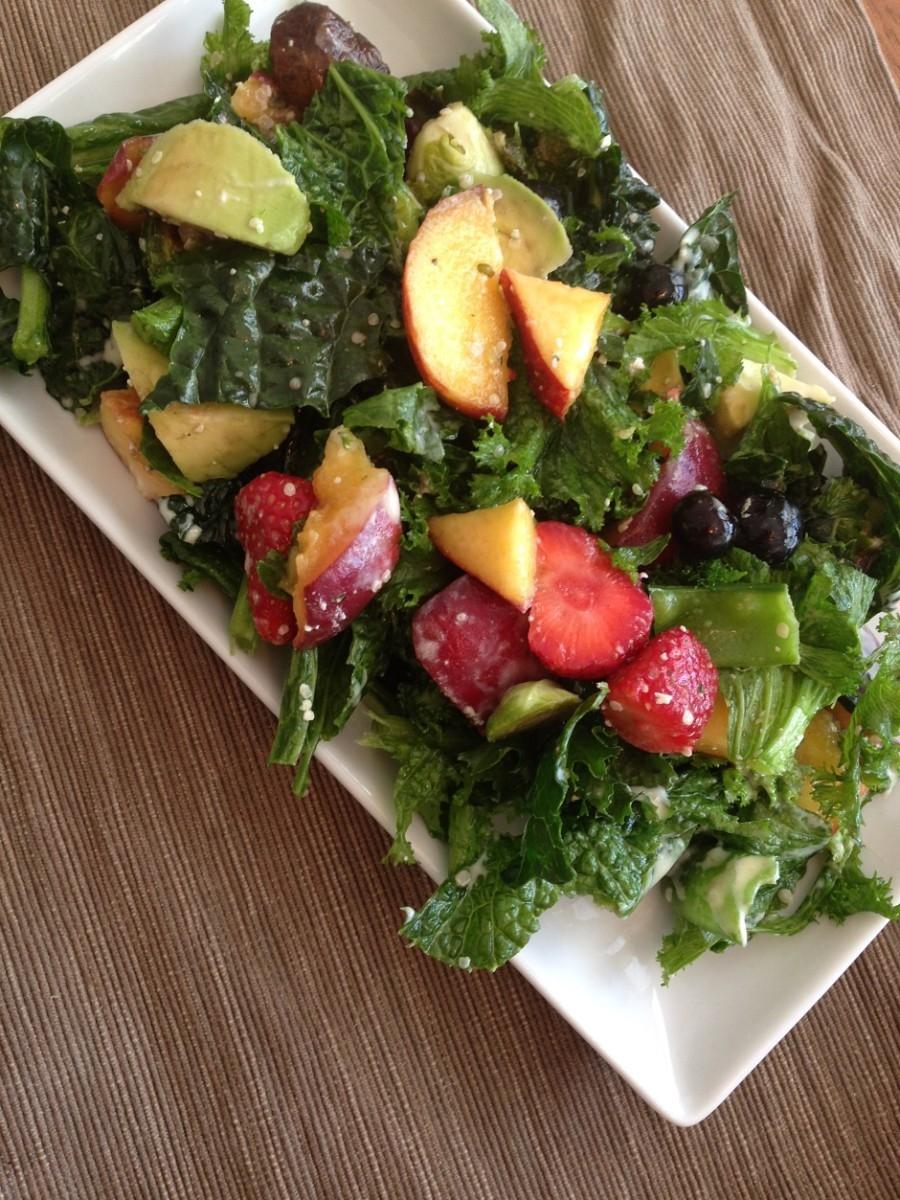 mustard greens fruit salad