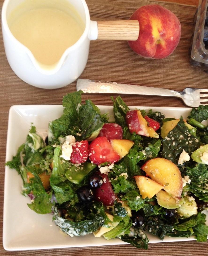 mustard greens summer salad (3)