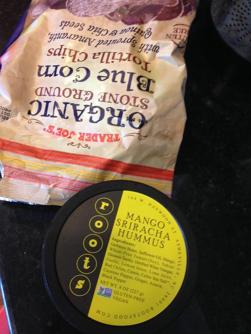 chips and hummus