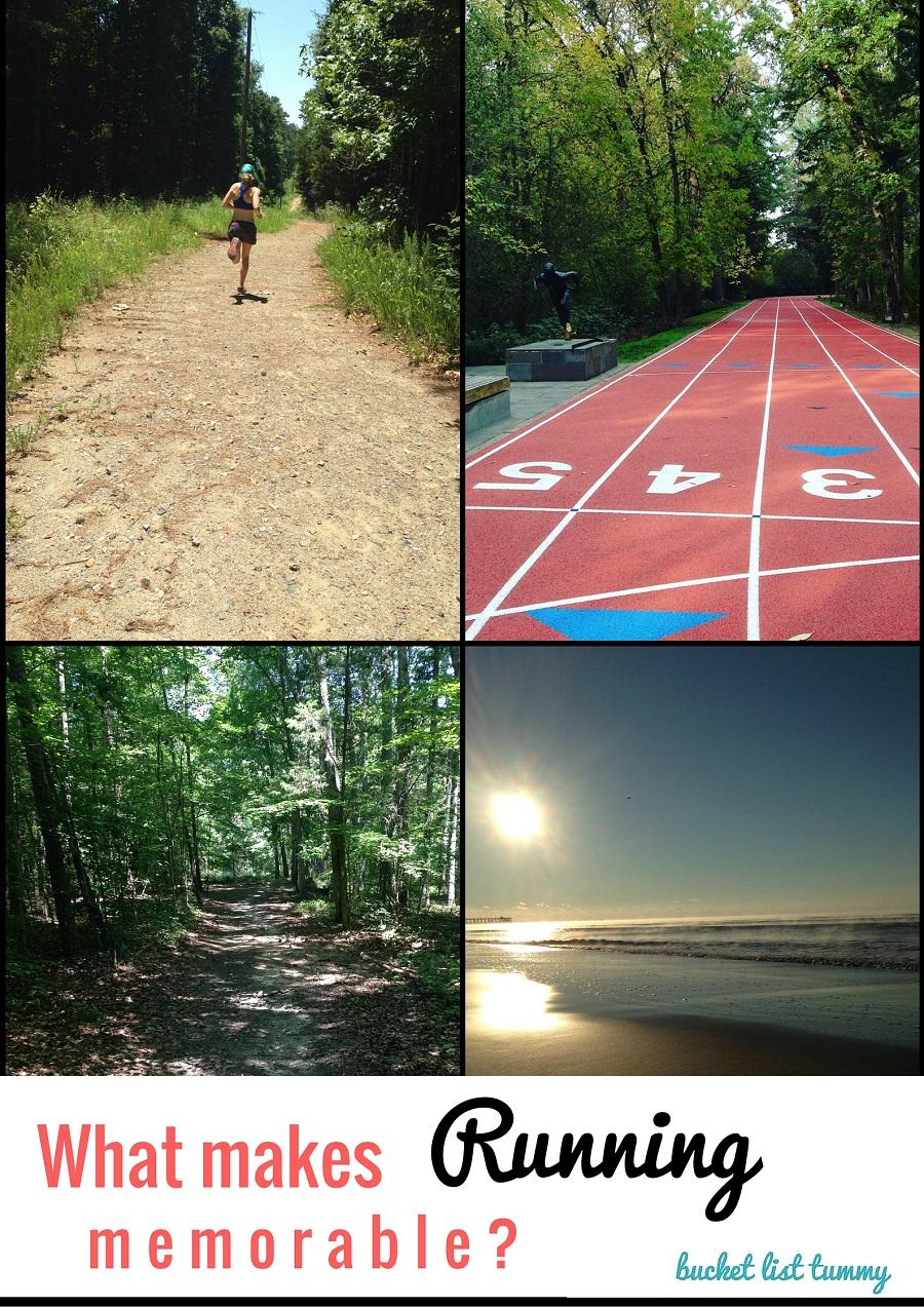 What makes running memorable