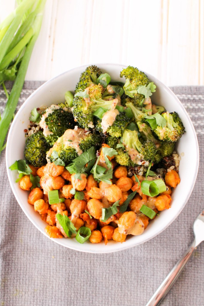 buffalo roasted chickpea bowl