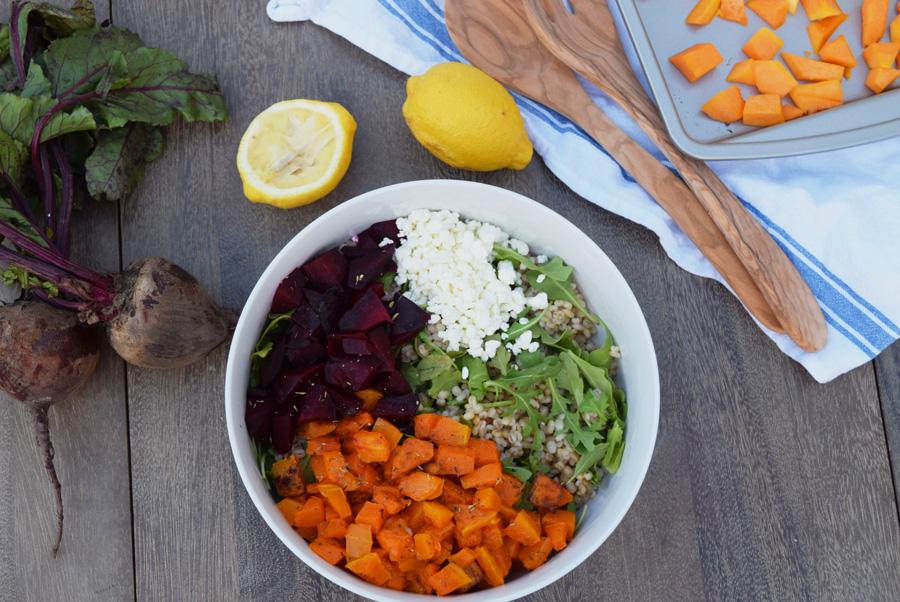 Fall Salad, Thanksgiving, Grain Salad, Butternut Squash