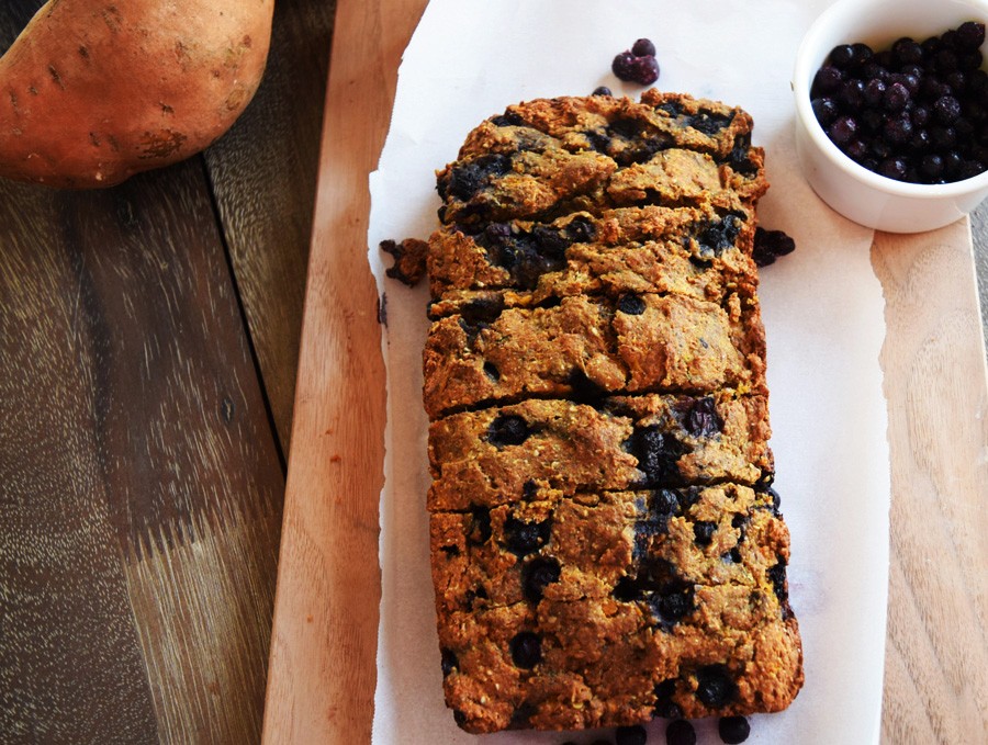 Wild Blueberries, Wild Blueberry Sweet Potato Bread, Sweet Potato Bread