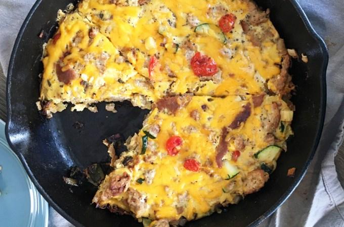 Cheesy Turkey Veggie Frittata