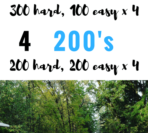 Cruise Reps Workout: 200s and 300s