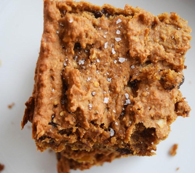 Sunflower Chocolate Chip Chickpea Bars (Gluten Free, Vegan)