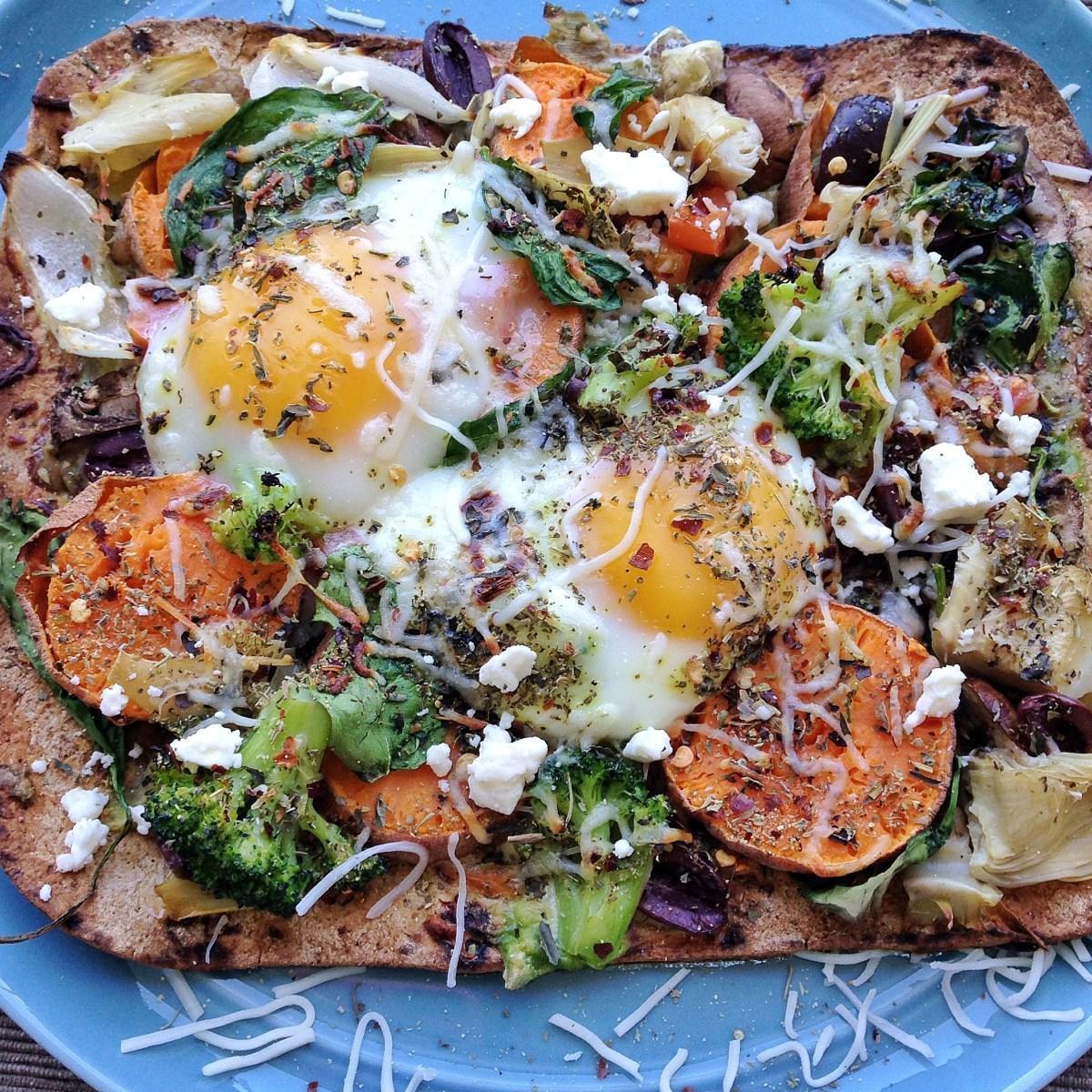 breakfast egg pizza
