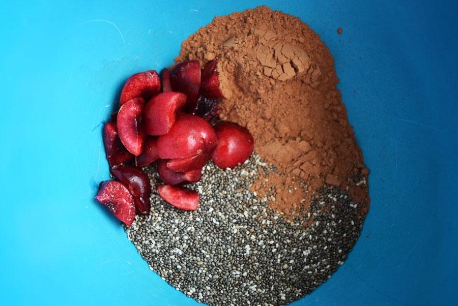 Cherry Cocoa Chia Pudding, Chia Pudding