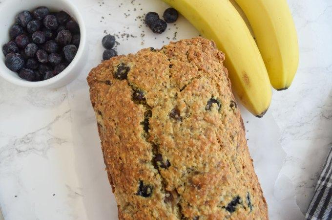 Blueberry Banana Chia Bread