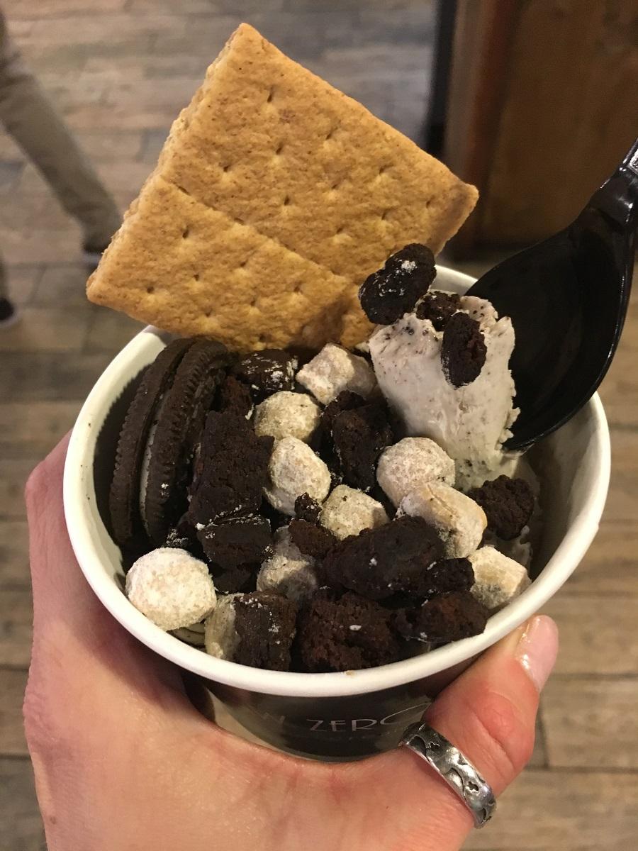 Below Zero, Savannah, rolled ice cream