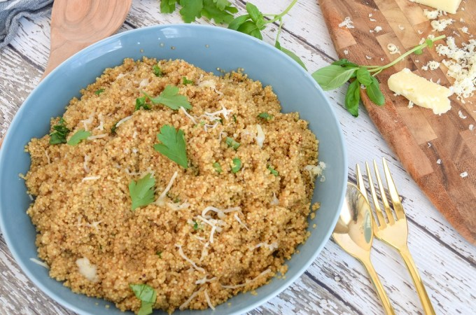 Lemon Herb Cheesy Quinoa