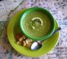Puréed Asparagus Courgette Soup