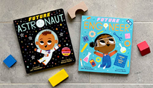 Book covers- Future Astronaut and Future Engineer