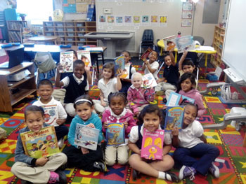 kids holding books