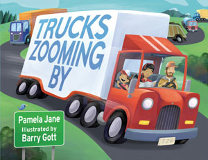 book cover Trucks Zooming By