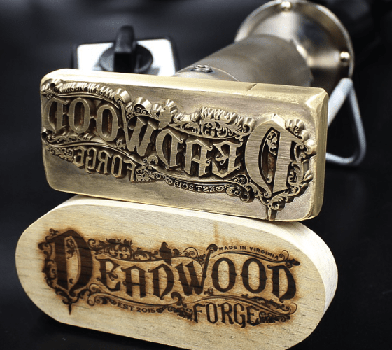 wood stamp for Deadwood Forge crafted by Buckeye Engraving