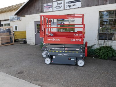 Sky Jack Scissor Lift Orange