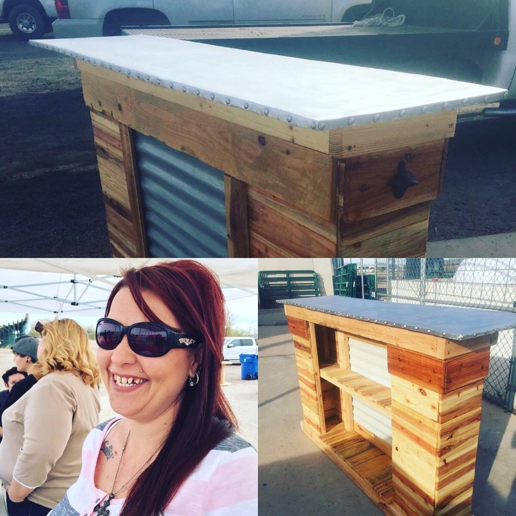 Rachel Moses, hand-built bar for Auction