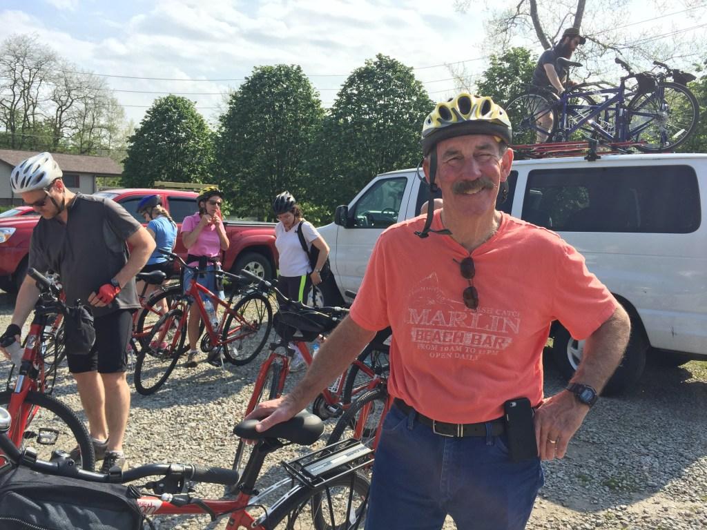 Jay Broadbent, Buckeye Main Street Coalition getting ready for 30 mile trek.