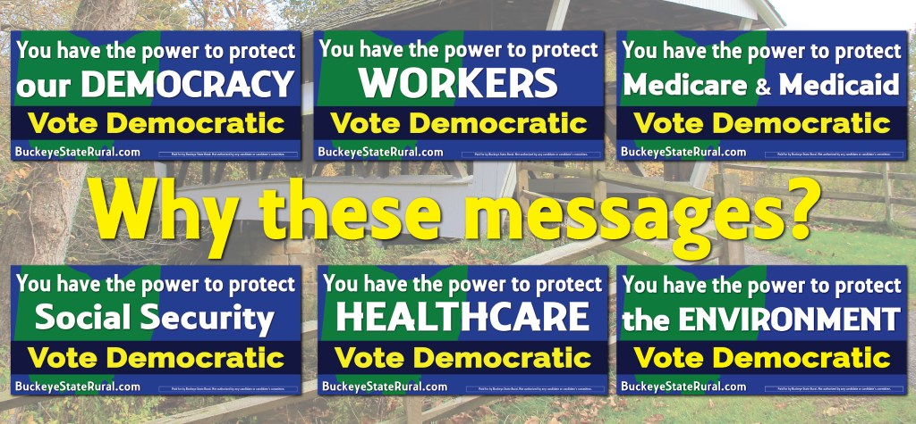 An image showing 2020 billboard messages