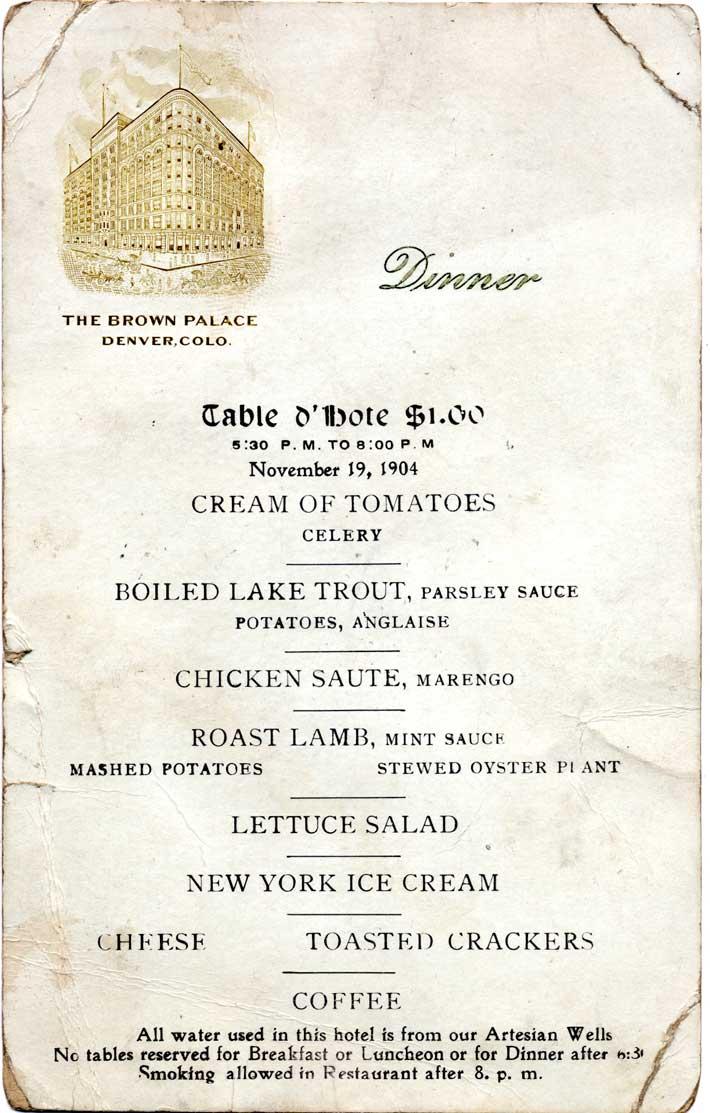 1920s Food Menu Food