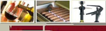 Wine, Cigars, Bar Accessories