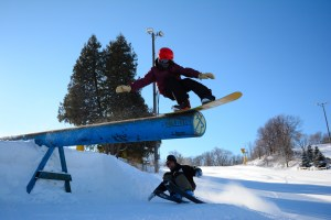 skiing and boarding at buck hill