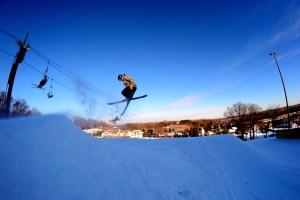 Skiing at buck hill