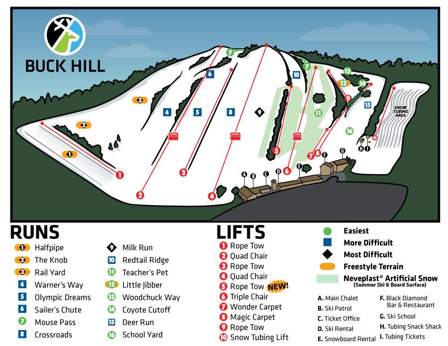 Trail Map Buck Hill