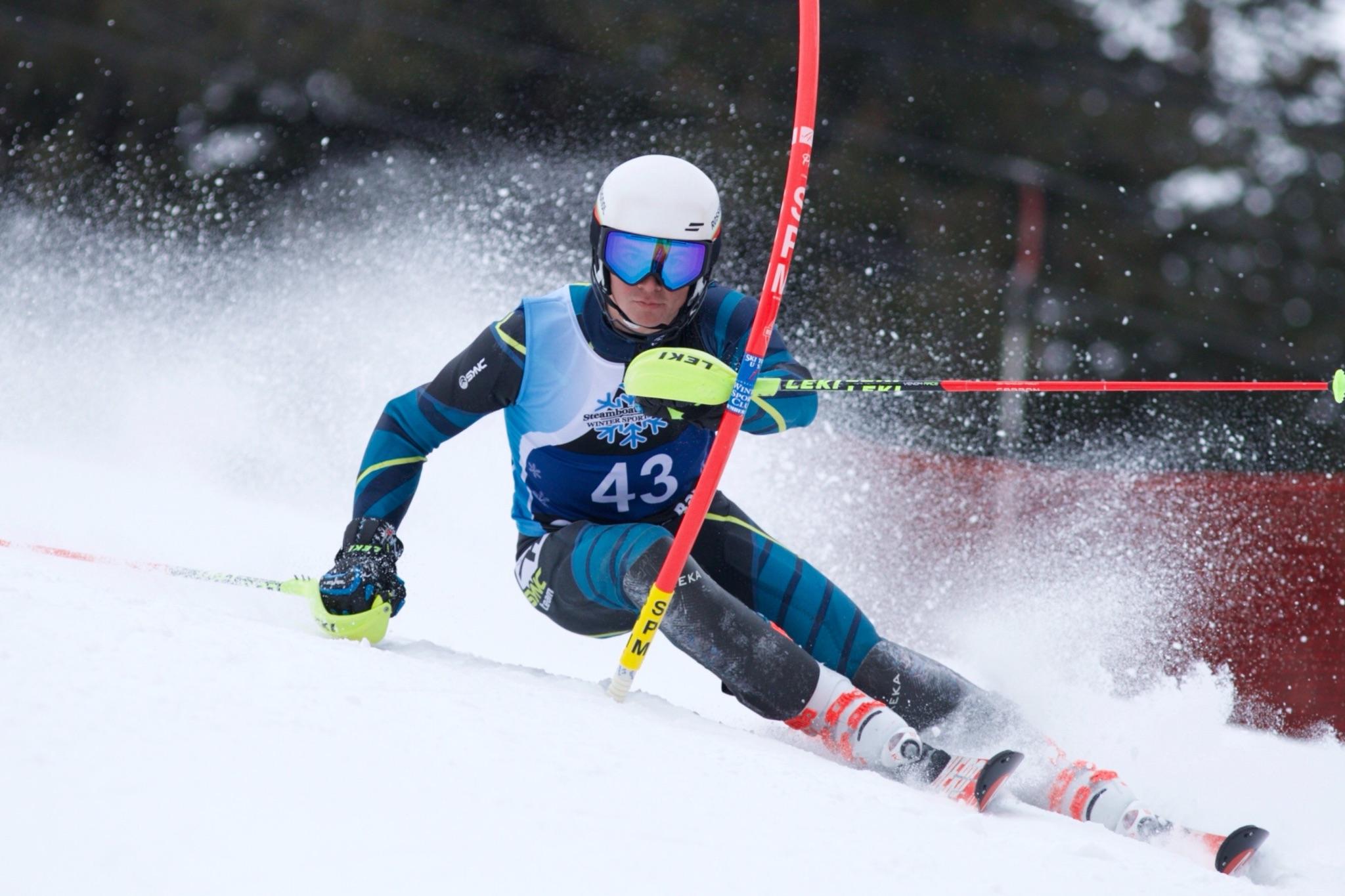 Downhill skiing at buck hill