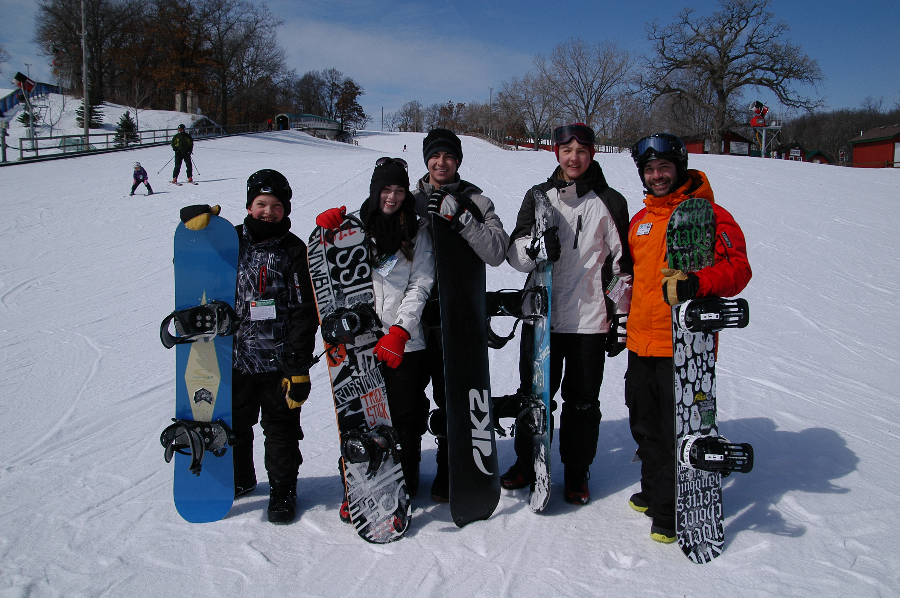 Snowboarders at buck hill