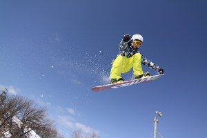 Snowboarder at Buck Hill
