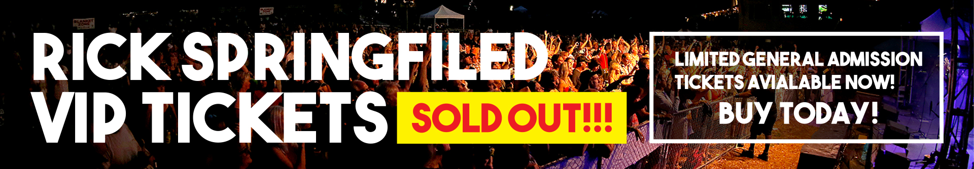 Rick Springfield Tickets Sold Out