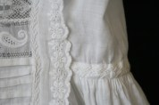 antique christening gown lace& embroidery www.buckinghamvintage.co.uk