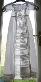 antique christening gown lace panel www.buckinghamvintage.co.uk