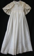 antique christening gown & cape www.buckinghamvintage.co.uk